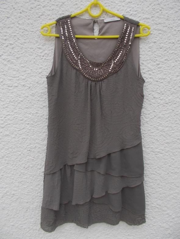 sukienka 38 szara