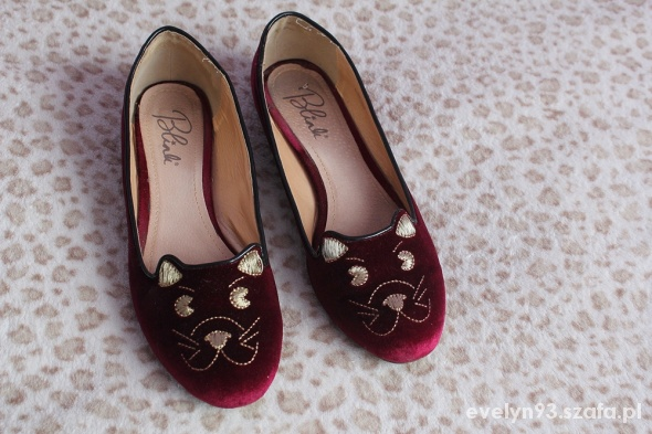 Blink balerinki koty kitty flats 39 kolor ruby...