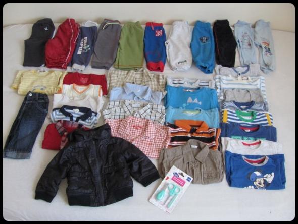 zestaw odzieży dla chłopca 36 szuk UBRANKA rozmiar 80 parę 74