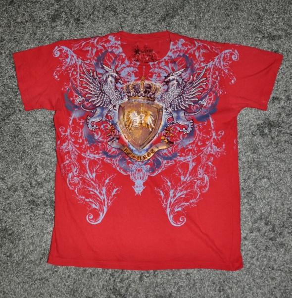 czerwony t shirt Resurgw