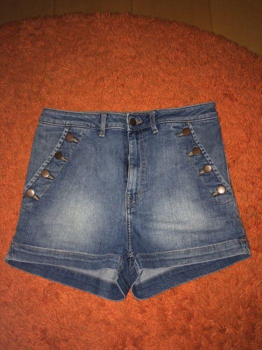 jeansowe szorty spodenki wysoki stan HM L 40