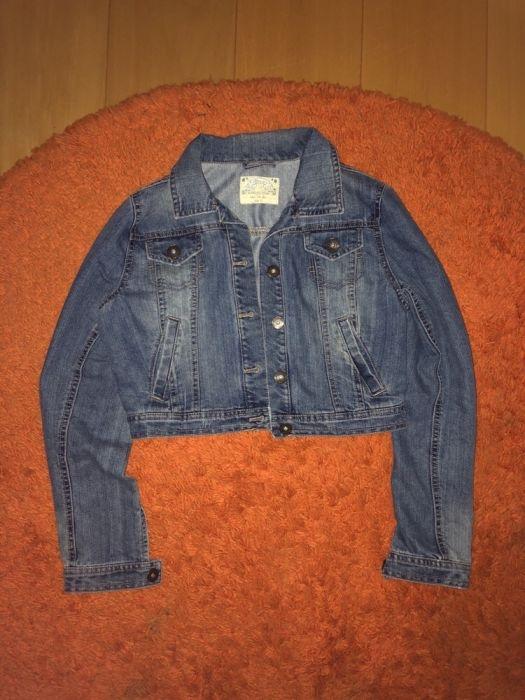krótka jeansowa katana kurtka M 38