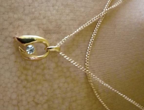 Łańcuszek z zawieszką złota z cyrkonią