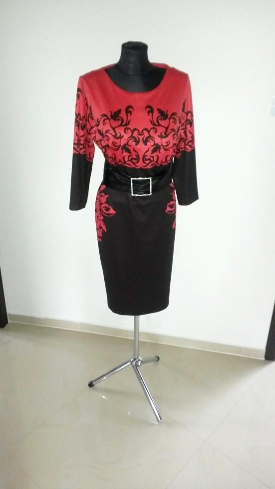 NOWA elegancka zmysłowa czerwona sukienka 48