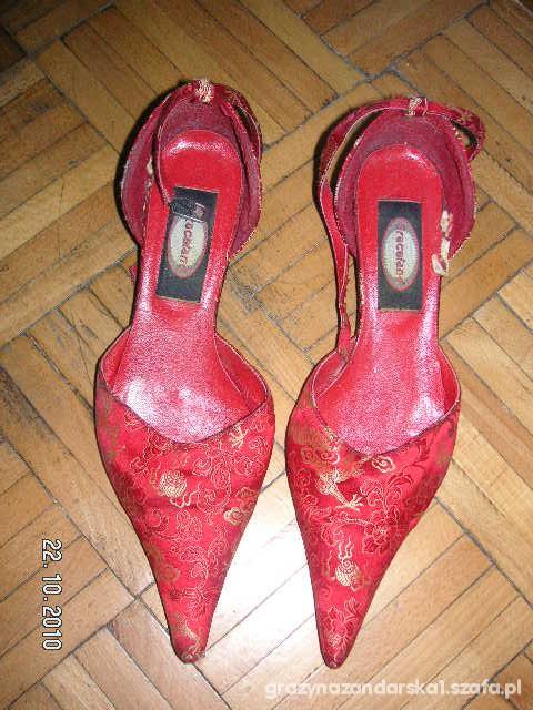 Czółenka Czerwone eleganckie buty 38 39