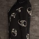 koszula czarna w czachy