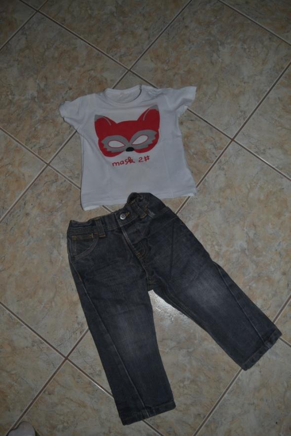 Komplecik Spodnie George i bluzeczka 9 12mc 80cm