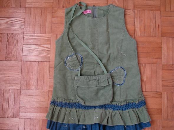 Sukienka sztruksowa z torebką