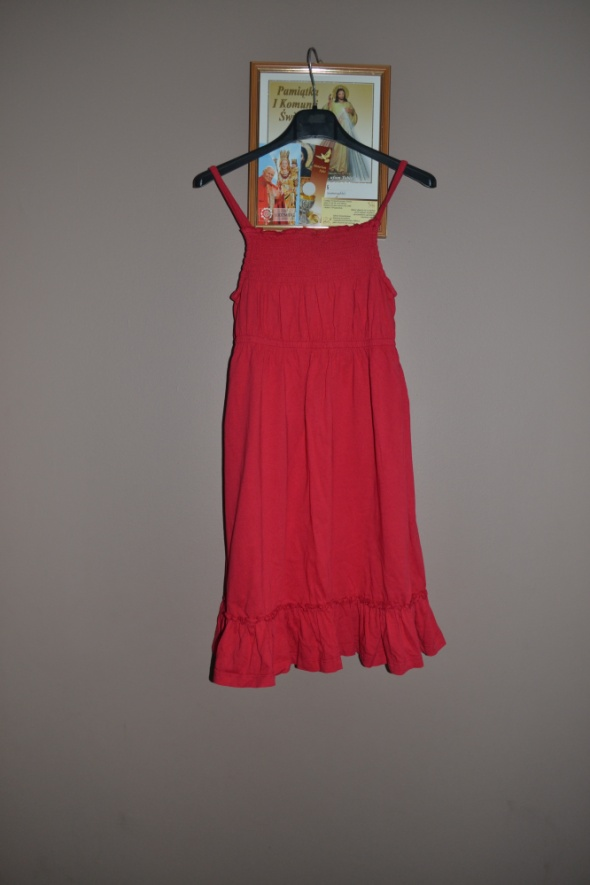Sukienka czerwona George 134cm 140cm 146cm
