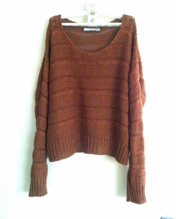 New Look brązowy sweter oversize 38 luźny krój 10