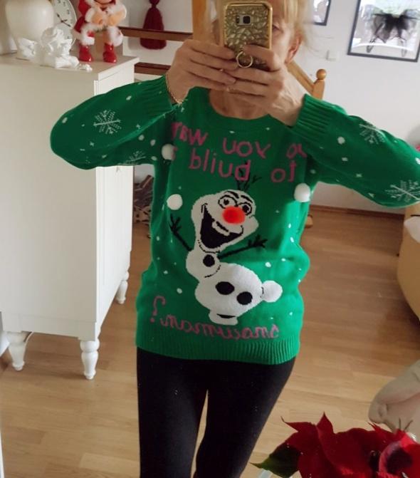 Świąteczny sweter Olaf rozm L XL