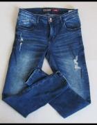 spodnie Jeansy Skinny HOUSE 40 L rurki z przetarciami...