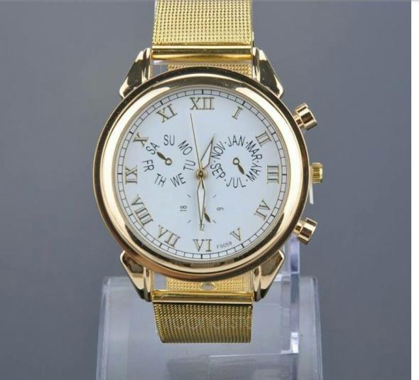 Damski złoty zegarek