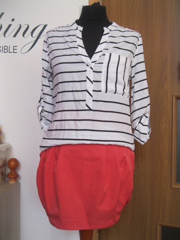 zestaw ubrań S bluzka ATMOSPHERE spódnica marynarka
