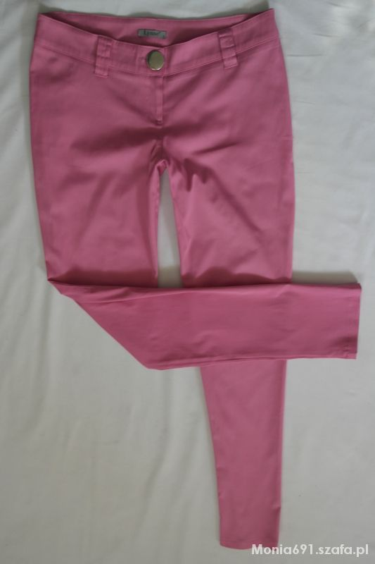 spodnie rurki biodrówki neonowy róż r L