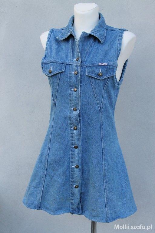 krótka jeansowa sukienka