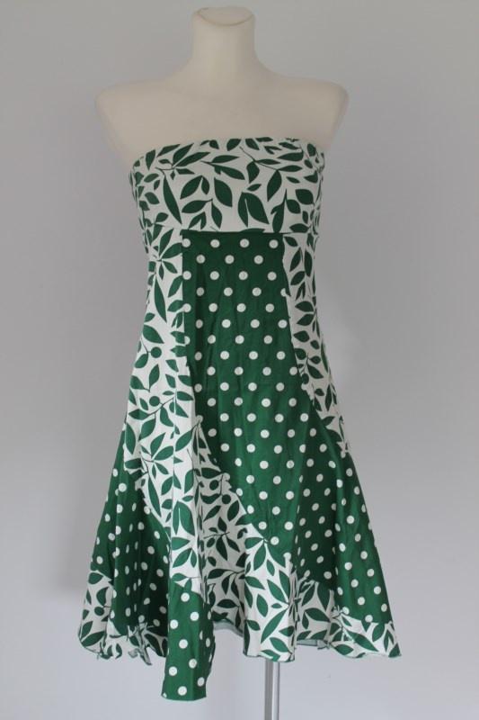 Zielona sukienka rozkloszowana Pepe Jeans London