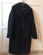 Elegancki zimowy ciepły płaszcz