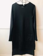 Sweterkowa asymetryczna sukienka M