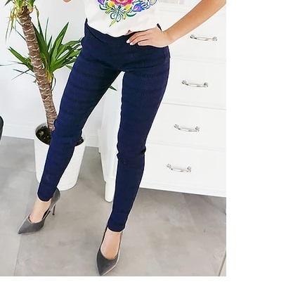 Spodnie NOWE wytłaczane spodnie rurki rozmiar S M