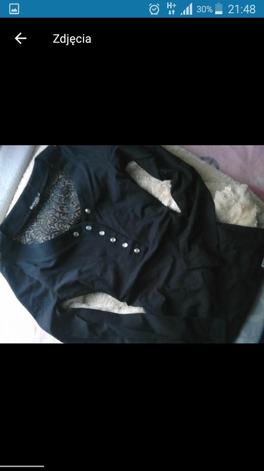 Czarna bluzka tył koronka