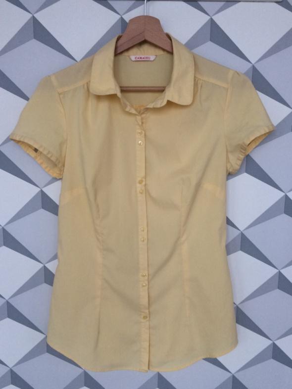 Camaieu żółta bluzka z krótkim rękawem...