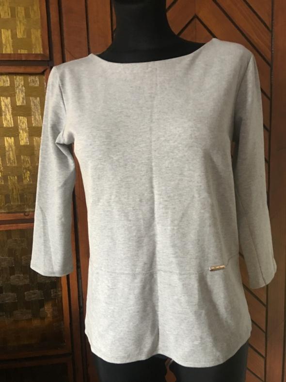 Bluzeczka tunika szara i biała S na M