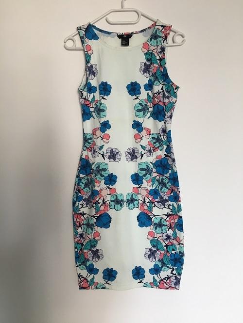 Sukienka H&M Kwiaty Bandażowa XS 34