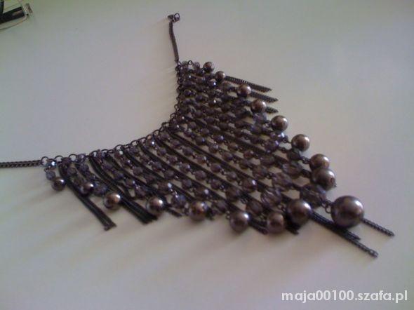 Oryginalny elegancki naszyjnik w szpic