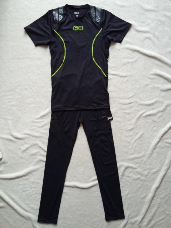 strój kompresyjny dres sportowy do biegania i ćwiczeń zestaw crivit