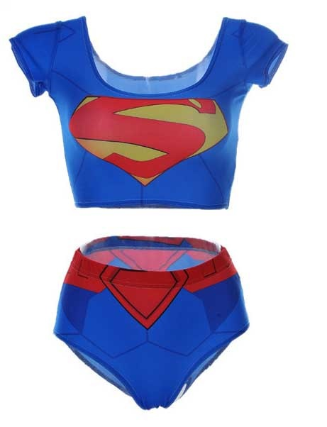 Kostium kąpielowy SUPER GIRL superman japan 34 XS