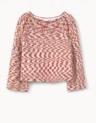 nowy bawełniany melanżowy sweter z Mango S z metką
