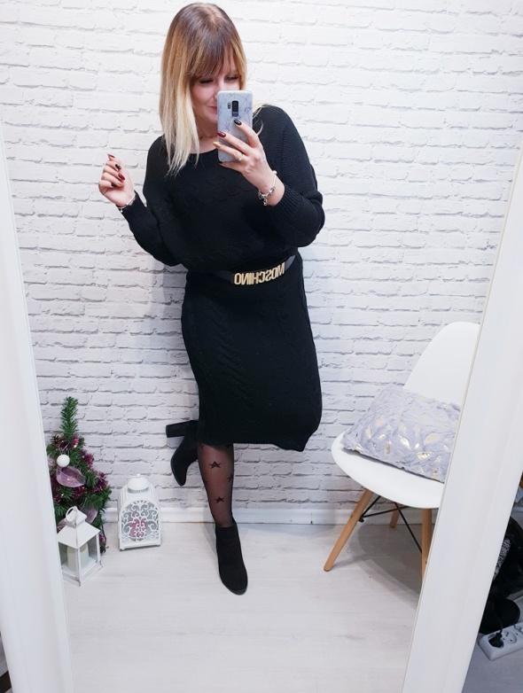 Komplet swetrowy Basic czarny
