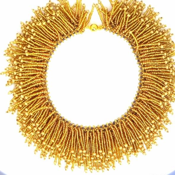 Nasz38 Naszyjnik Gold Grass