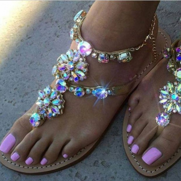 Sandałki kryształki rozmiary