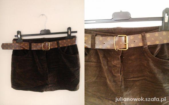 brązowa spódnica m