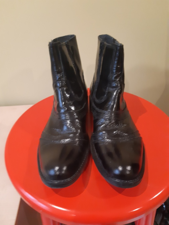 lakierowane skórzane męskie buty do kostek VENEZIA sztyblety botki