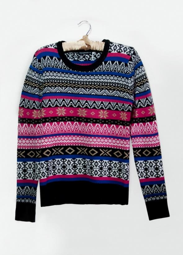 Ciepły sweter w norweskie wzory...