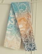 Nowe kolorowe legginsy getry S 36 M 38 wzór boho indyjski paste...