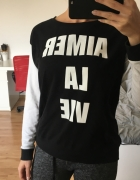 Bluza z nadrukiem czarno biała H&M Divided rS...