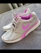 Nike roshe run szaro różowe...