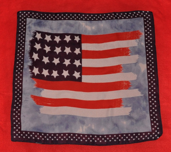 apaszka z flagą USA