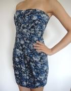 MANGO mini sukienka w kwiaty
