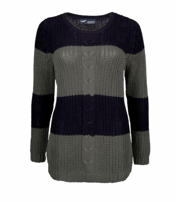 Arizona sweter z ozdobnym splotem warkocze