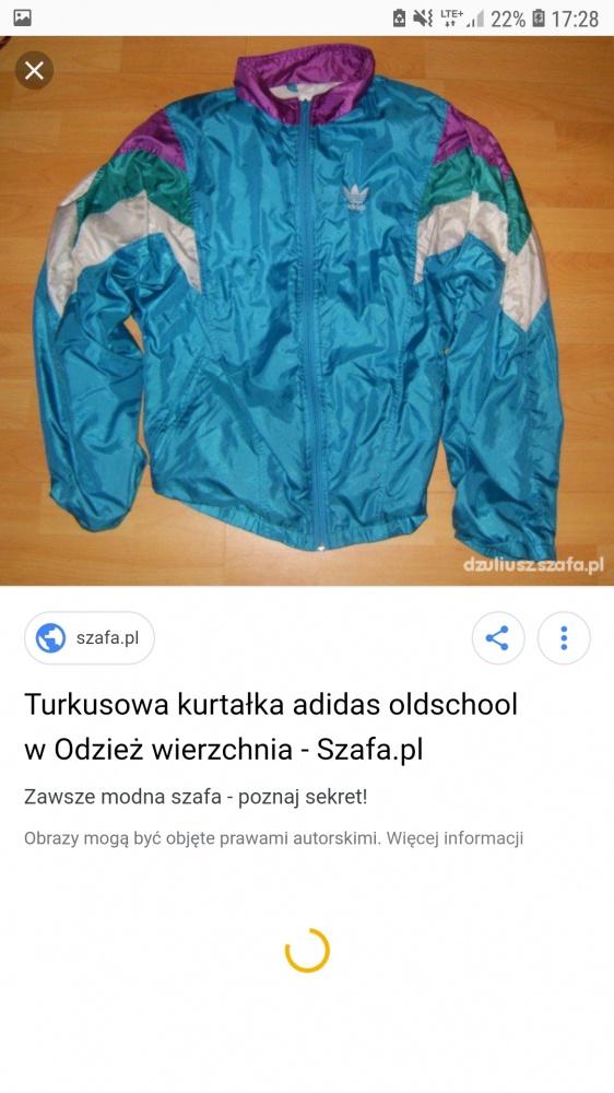 Turkusowa wiatrówka adidas orginals...