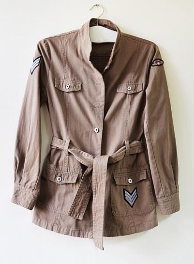 militarna kurtka handmade M cienka