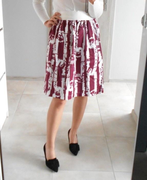 Ivana Helsinki spódnica midi rozkloszowana wzory
