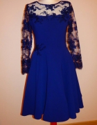 elegancka granatowa sukienka...