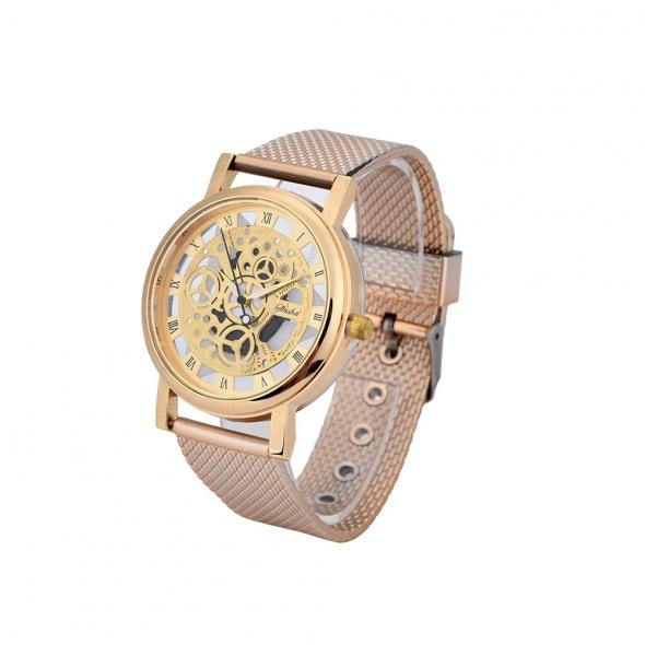 Zegarek damski złoty szkieleton modny