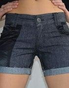 Spodenki krótkie jeansowe BERSHKA rozmiar S